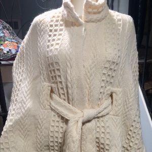 Branigan Weavers Ivory Wool belted Cape